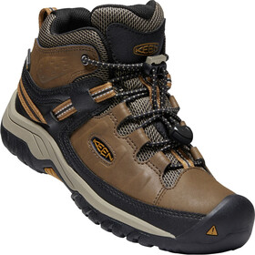 Keen Targhee WP Mid Shoes Youth dark earth/golden brown